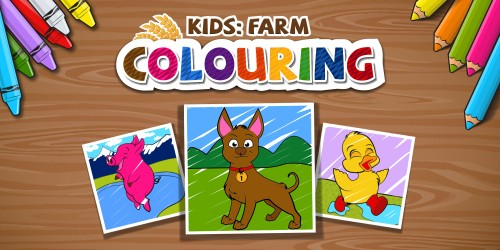 Kids: Farm Colouring